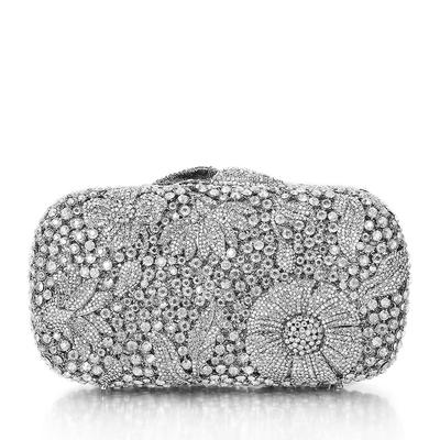 Bridal Purse/Luxury Clutches Wedding/Ceremony & Party Crystal/ Rhinestone/Silver Plated Magnetic Closure Elegant Clutches & Evening Bags (012185814)