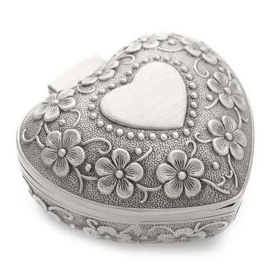 """Caixa de jóias Liga/Prateado Senhoras Coração deu forma 3.15""""(Aproximado 8cm) Jóias de Casamento & Festa (011058534)"""