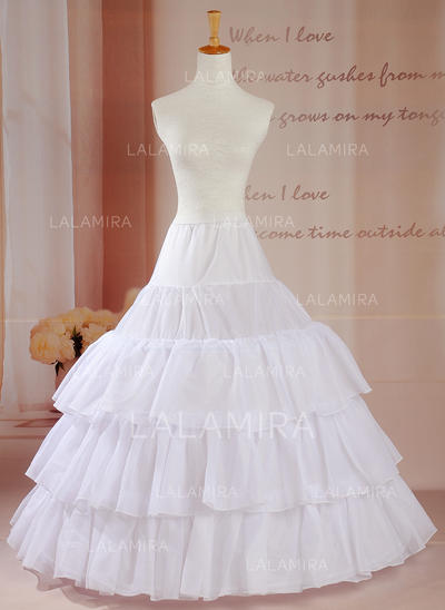 Petticoats Floor-length Tulle Netting Ball Gown Slip/Full Gown Slip 3 Tiers Petticoats (037190799)