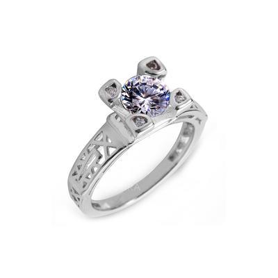 Rings Zircon/Platinum Plated Ladies' Gorgeous Wedding & Party Jewelry (011164829)