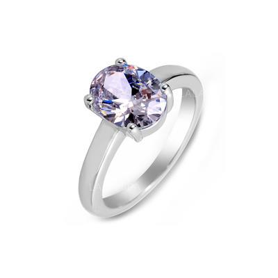 Anéis Zircon/Platinadas Senhoras Bonito Jóias de Casamento & Festa (011055251)