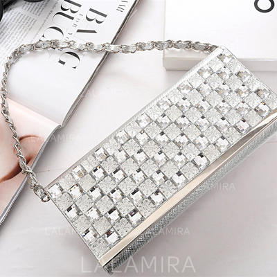 "Clutches Wedding/Ceremony & Party Crystal/ Rhinestone Elegant 9.65""(Approx.24.5cm) Clutches & Evening Bags (012187357)"