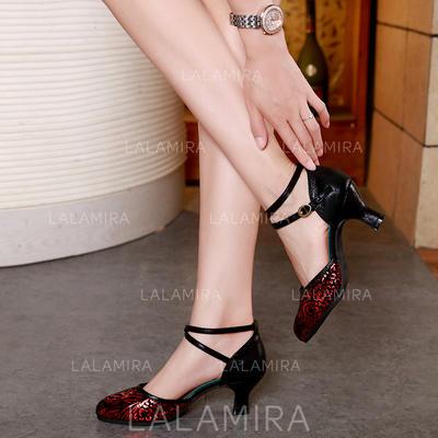 Women's Ballroom Leatherette Dance Shoes (053183566)
