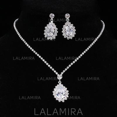 Jewelry Sets Alloy/Rhinestones Rhinestone Lobster Clasp Pierced Wedding & Party Jewelry (011167865)