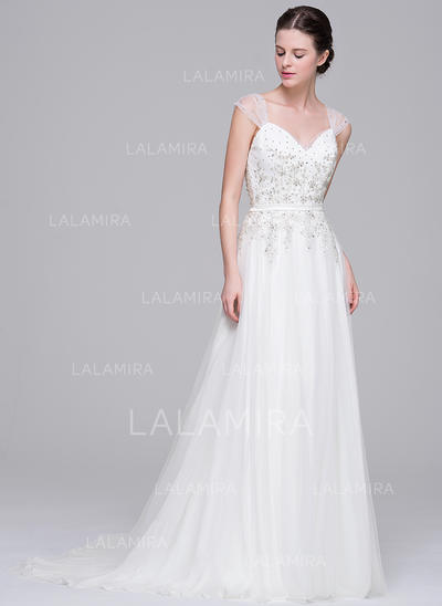 Gorgeous Tulle Wedding Dresses With A-Line/Princess Sweetheart (002210662)