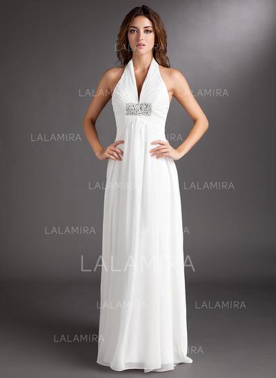 General Plus Halter A-Line/Princess - Chiffon Wedding Dresses (002211260)
