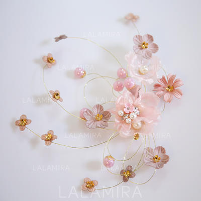 """Hairpins Wedding/Special Occasion Alloy/Imitation Pearls/Chiffon 7.09""""(Approx.18cm) 1.18""""(Approx.3cm) Headpieces (042158600)"""