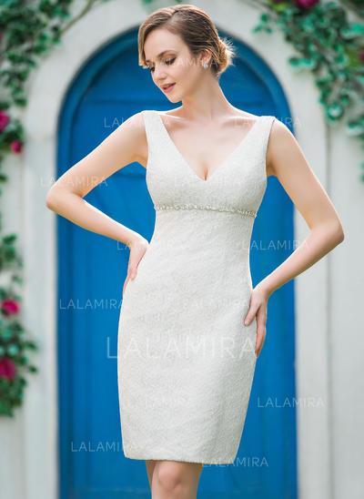 Renda Tubo Simples Beading Vestidos de noiva (002051151)