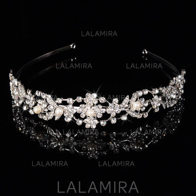 """Tiaras Wedding/Special Occasion/Party Rhinestone/Alloy 1.18""""(Approx.3cm) 6.3""""(Approx.16cm) Headpieces (042157345)"""