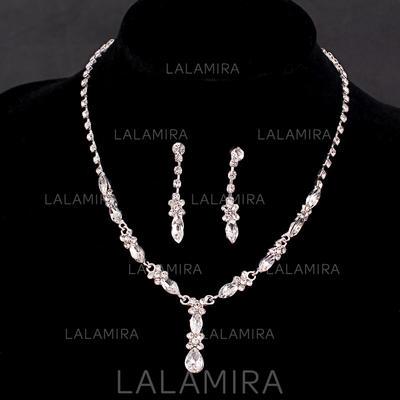Jewelry Sets Alloy/Rhinestones Rhinestone Lobster Clasp Pierced Wedding & Party Jewelry (011167481)