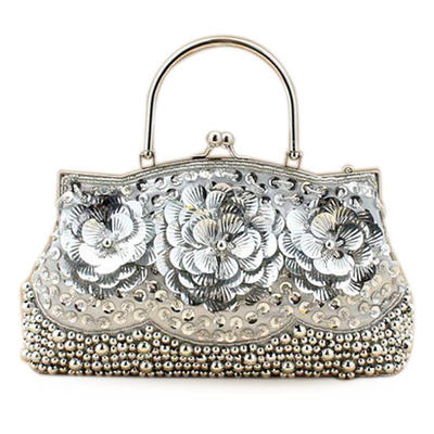 Wristlets/Fashion Handbags Wedding/Ceremony & Party Sequin Kiss lock closure Gorgeous Clutches & Evening Bags (012184315)