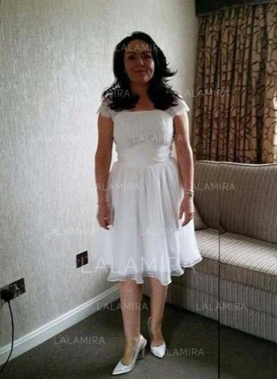 Forme Princesse Encolure carrée Mousseline Magnifique Robes mère de la mariée (008212803)