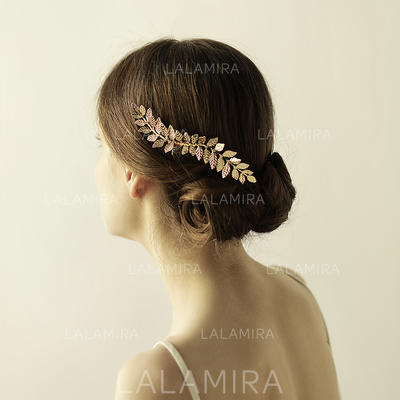 """Combs & Barrettes Wedding/Special Occasion/Party Alloy 5.12""""(Approx.13cm) 2.76""""(Approx.7cm) Headpieces (042159141)"""