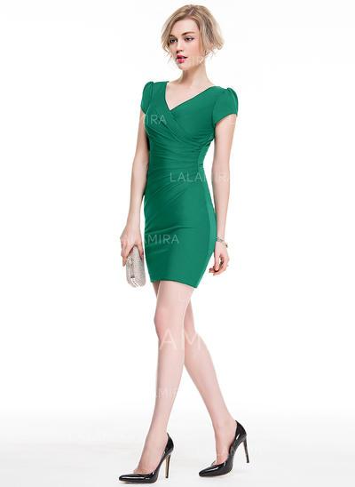 Chic Vestido tubo Escote en V Jersey Baile de promoción (016077859)