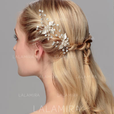 Hairpins Wedding/Special Occasion/Party Rhinestone/Alloy/Imitation Pearls Charming/Leaves Shaped Color & Style representation may vary by monitor Headpieces (042156934)