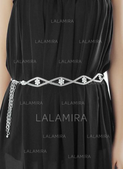 Women Alloy With Rhinestones Belt Elegant Sashes & Belts (015191358)
