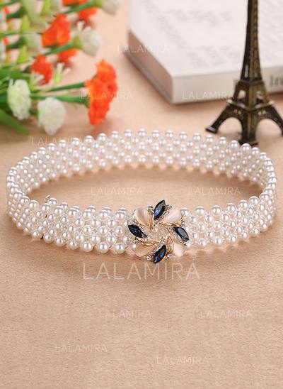 Elegante La perla de faux Cinturón (015102721)