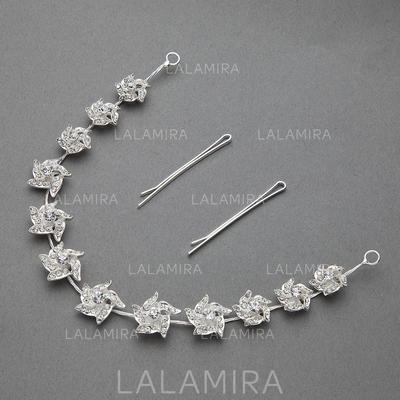 "Headbands Wedding/Special Occasion/Party Rhinestone/Alloy 11.02""(Approx.28cm) 0.78""(Approx.2cm) Headpieces (042154274)"