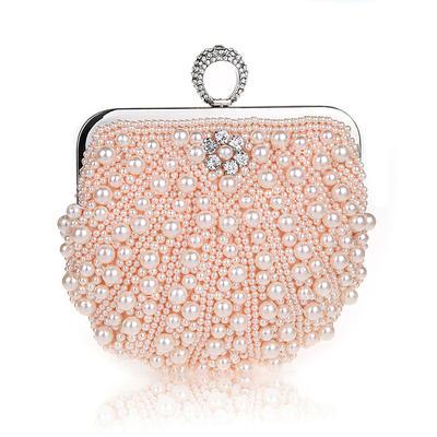 Elegant Pearl Koblinger/Wristletter/Posetasker/Brude Pung/Mode håndtasker/makeup Tasker/Luksus Koblinger (012141836)