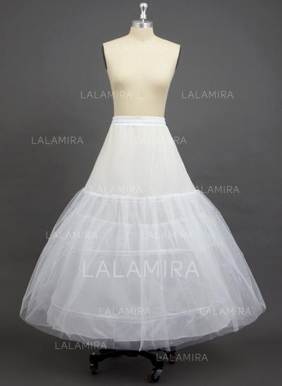 Petticoats Ankle-length Tulle Netting/Polyester A-Line Slip 3 Tiers Petticoats (037190719)