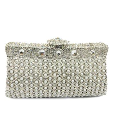"""Clutches/Luxury Clutches Wedding/Ceremony & Party Alloy Elegant 7.09""""(Approx.18cm) Clutches & Evening Bags (012186130)"""