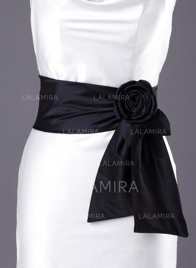 Women Satin With Flower Sash Simple Sashes & Belts (015190945)