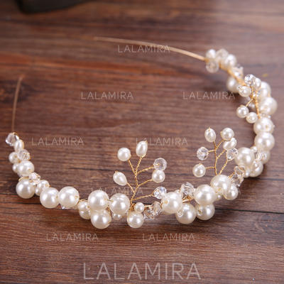 Glamorosa Aleación/La perla de faux Diademas (Se venden en una sola pieza) (042130005)