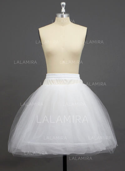 Petticoats Knee-length Tulle Netting/Polyester A-Line Slip/Half Slip 3 Tiers Petticoats (037190737)