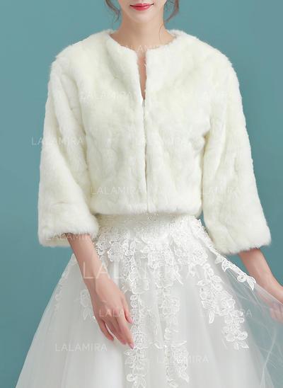 Wrap Wedding Faux Fur Ivory Wraps (013150320)