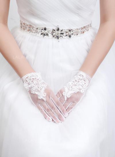 Tulle/Lace Ladies' Gloves Wrist Length Bridal Gloves Fingertips Gloves (014192072)