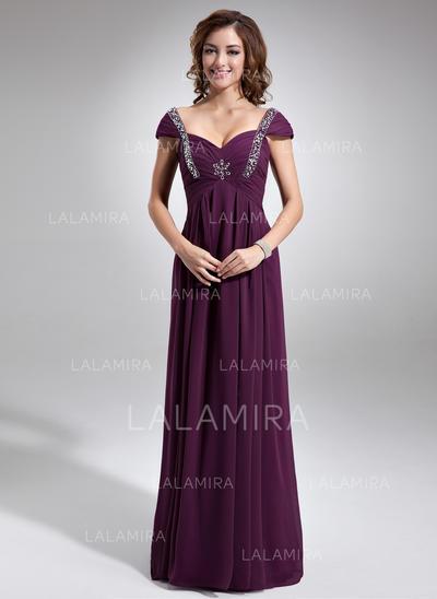 Ruffle Beading Sweetheart Fashion Chiffon Mother of the Bride Dresses (008006047)