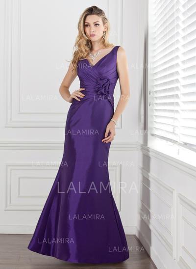 Trumpet/Mermaid Floor-Length Taffeta General Plus Bridesmaid Dresses (007000884)