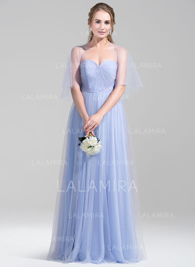 Ruffle Sweetheart With Tulle Bridesmaid Dresses (007072786)