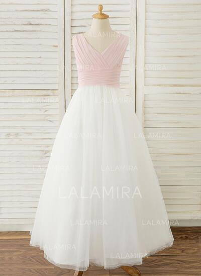 Ball-Gown/Princess Floor-length Flower Girl Dress