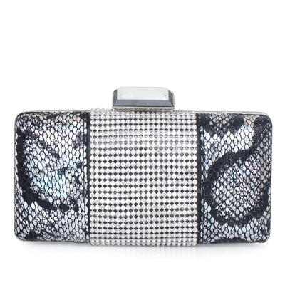 Clutches Ceremony & Party Stainless Steel/PU Clip Closure Unique Clutches & Evening Bags (012184785)