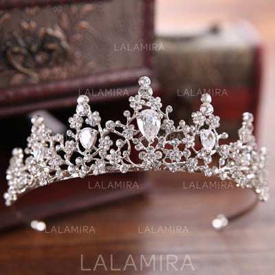"""Tiaras Wedding/Special Occasion/Party/Art photography Rhinestone/Alloy 1.57""""(Approx.4cm) 4.92""""(Approx.12.5cm) Headpieces (042159922)"""