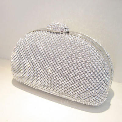 Clutches/Wristlets Wedding Crystal/ Rhinestone Clip Closure Shining Clutches & Evening Bags (012186795)