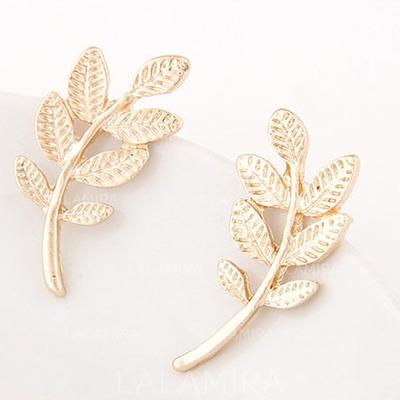 Earrings Alloy Pierced Ladies' Elegant Wedding & Party Jewelry (011166851)