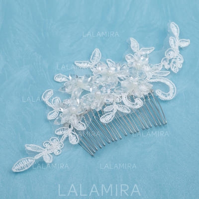 "Combs & Barrettes Wedding/Special Occasion/Casual Alloy/Imitation Pearls/Lace 5.91""(Approx.15cm) 3.15""(Approx.8cm) Headpieces (042153166)"