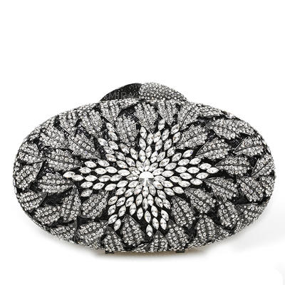 Clutches/Bridal Purse/Luxury Clutches Wedding/Ceremony & Party Crystal/ Rhinestone/Alloy Magnetic Closure Shining Clutches & Evening Bags (012185852)