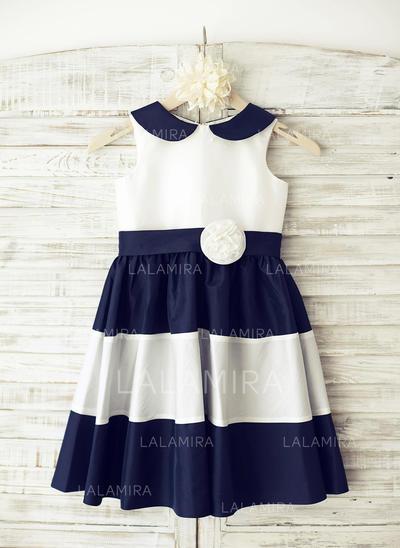 Taffeta A-Line/Princess Flower(s) Elegant Flower Girl Dresses (010196736)