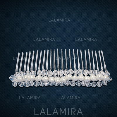 "Combs & Barrettes Wedding/Special Occasion Imitation Pearls/Copper 3.74""(Approx.9.5cm) 1.57""(Approx.4cm) Headpieces (042155089)"