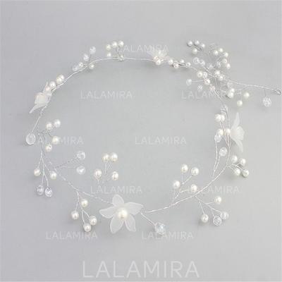 Hermoso Crystal/La perla de faux/Flor esmerilado Diademas (Se venden en una sola pieza) (042137970)