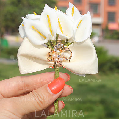 "Boutonniere Free-Form Wedding/Party Satin 2.76""(Approx.7cm) Wedding Flowers (123190143)"