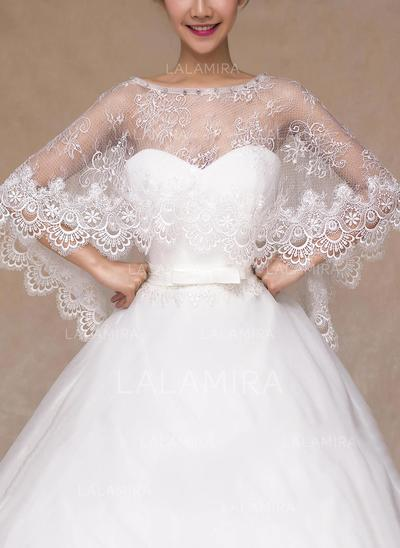 Wrap Wedding Lace With Rhinestones Other Colors Wraps (013149718)