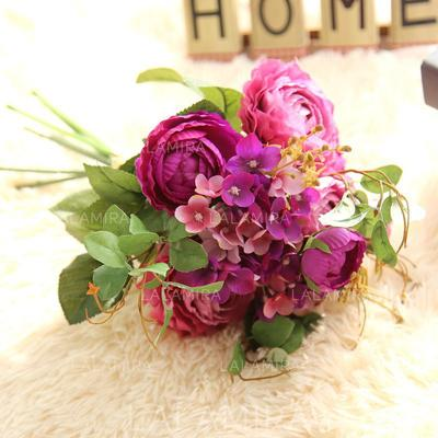 """Bridal Bouquets Round Wedding/Party/Casual Satin 14.57""""(Approx.37cm) Wedding Flowers (123189984)"""