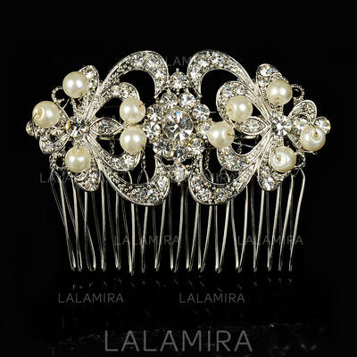 "Combs & Barrettes Wedding/Special Occasion Alloy/Imitation Pearls 3.94""(Approx.10cm) 2.36""(Approx.6cm) Headpieces (042156338)"