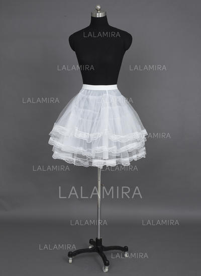 Petticoats Short-length Nylon/Tulle Netting A-Line Slip/Full Gown Slip/Flower Girl Slip/Half Slip/Short Flare Slip 3 Tiers Petticoats (037190690)