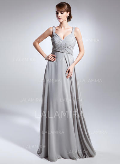 Empire V-neck Chiffon Glamorous Mother of the Bride Dresses (008211382)
