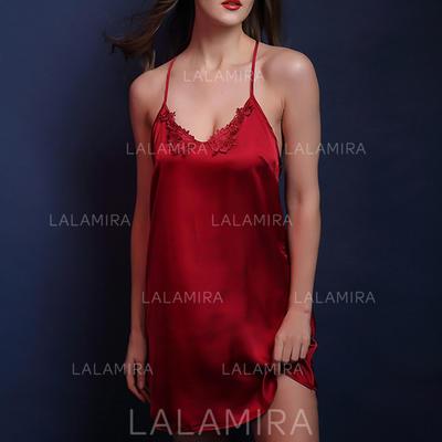 Sleepwear Casual/Wedding Bridal/Feminine SilK Sexy Lingerie (041193229)